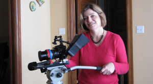 Nan with DSLR rig